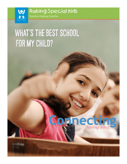Spring 2015 - Raising Special Kids