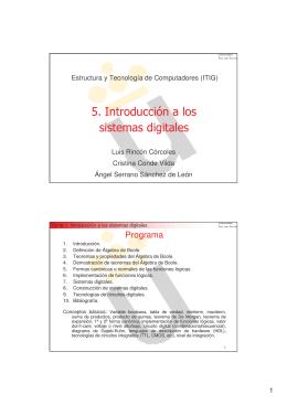 5. Introducción a los sistemas digitales