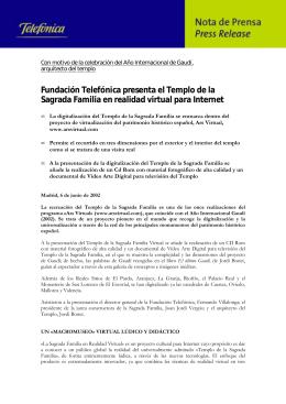 Fundación Telefónica presenta el Templo de la Sagrada Familia en