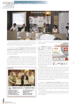 V Torneo de Pádel AC Córdoba - Colegio Oficial de Agentes