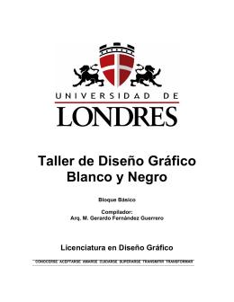Taller de Diseño Gráfico Blanco y Negro