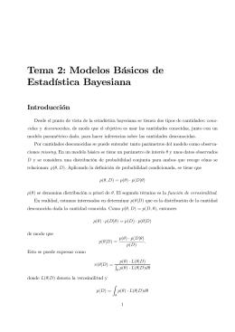 Tema 2: Modelos Básicos de Estadística Bayesiana