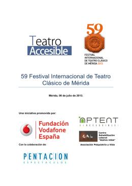 59 Festival Internacional de Teatro Clásico de Mérida