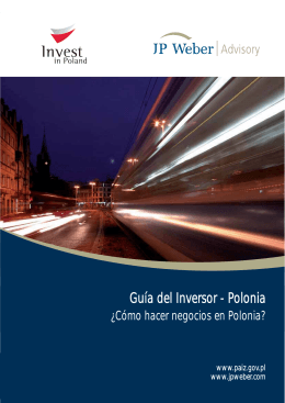 Investor`s Guide – Poland How to do Business