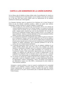 carta a los gobiernos de la unión europea
