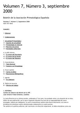 Nº3, Sep 2000 - Asociación Primatológica Española