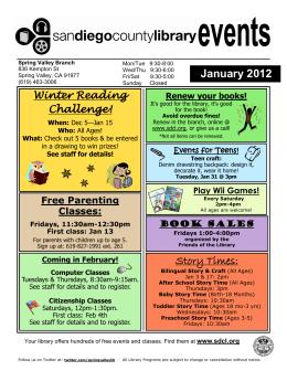 January 2012 Story Times: