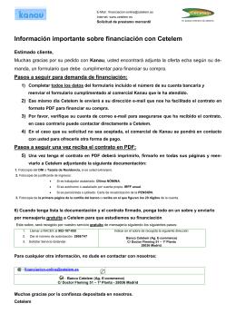Información importante sobre financiación con Cetelem