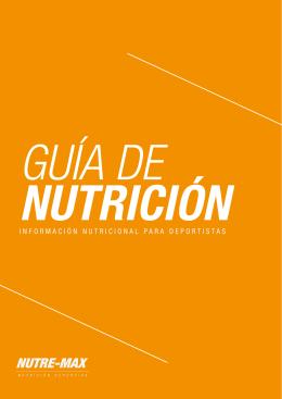 INFORMACIÓN NUTRICIONAL PARA DEPORTISTAS - Nutre-Max