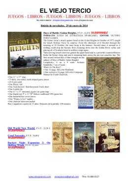 Boletín de novedades, 29 de enero de 2014