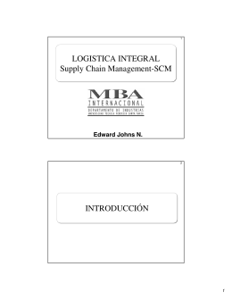 LOGISTICA INTEGRAL Supply Chain Management