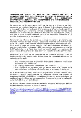 Información sobre la evaluación - Ministerio de Ciencia e Innovación