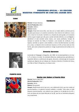 programa oficial – vii edicion muestra itinerante de cine del caribe