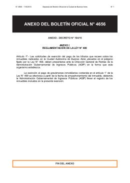 anexo del boletín oficial n° 4656 - Gobierno de la Ciudad Autónoma