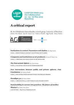A critical report