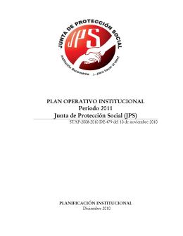 P.O.I 2011 - Junta de Protección Social