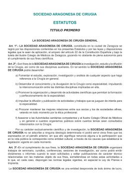 ESTATUTOS - Sociedad Aragonesa de Cirugía