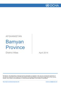 Bamyan Province - HumanitarianResponse