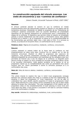 caminos de confianza - Revista Hispana para el Análisis de Redes