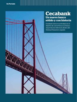 Cecabank Un nuevo banco sólido y con historia