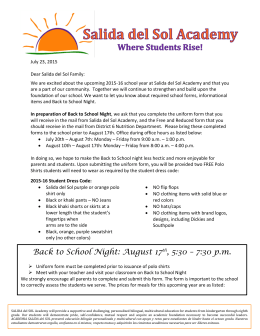 Back to School Night: August 17th, 5:30 – 7:30 p.m.