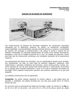 GARAGE DE BLOQUES DE HORMIGÓN Las construcciones