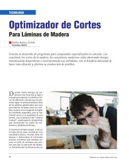 Optimizador de Cortes - Revista El Mueble y La Madera