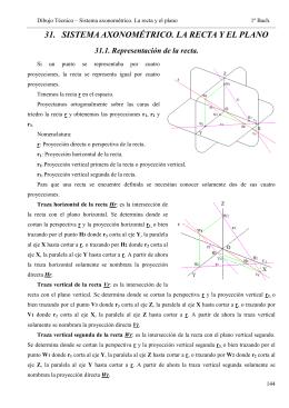 31.-Sistema axonométrico. La recta y el plano