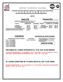 INGLÉS 0451815180 - CECyT #7 CUAUHTEMOC