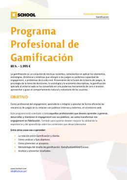 Programa Profesional de Gamificación