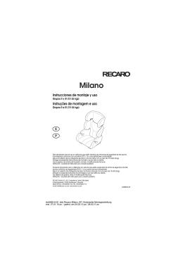 SillaCocheBebe.com | Manual de instrucciones | Recaro Milano