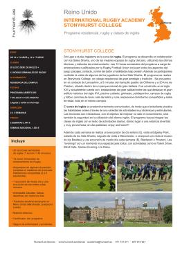 Aprender Inglés en Rugby Academy Stonyhurst College
