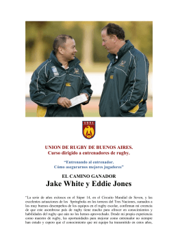 programa del curso - Unión de Rugby de Buenos Aires