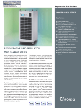 REGENERATIVE GRID SIMULATOR MODEL 61800 SERIES