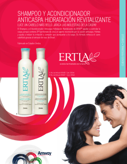 shampoo y acondicionador anticaspa hidratación revitalizante