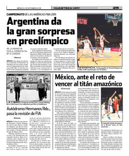argentina da la gran sorpresa en preolímpico