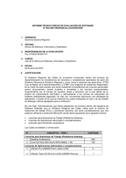 INFORME TÉCNICO PREVIO DE EVALUACIÓN DE SOFTWARE N