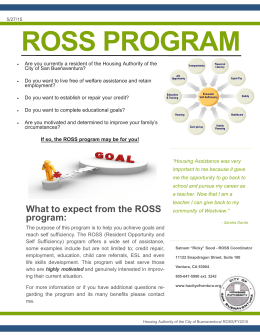 ROSS PROGRAM - Housing Authority of the City of San Buenaventura