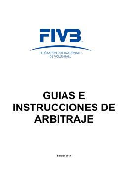 guias e instrucciones de arbitraje