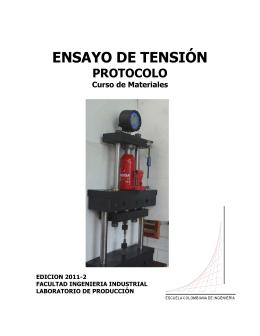 ENSAYO DE TENSIÓN - Escuela Colombiana de Ingeniería