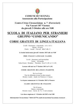 """SCUOLA DI ITALIANO PER STRANIERI GRUPPO """"COMUNICANDO"""""""