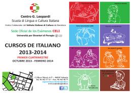 CURSOS DE ITALIANO 2013-2014