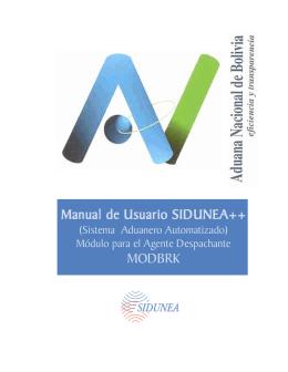 MODBRK - Sidunea - Aduana Nacional