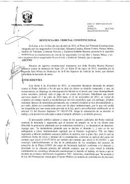 05057-2013-PA/TC - Tribunal Constitucional