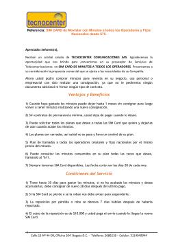 Ventajas y Beneficios Condiciones del Servicio