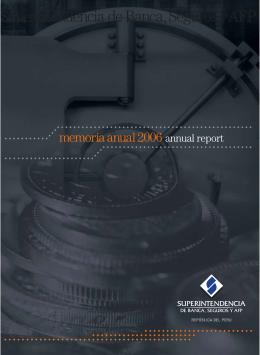 memoria 2006 - Superintendencia de Banca y Seguros
