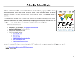 Colombia School Finder