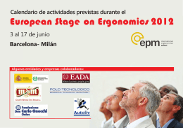 European Stage on Ergonomics 2012