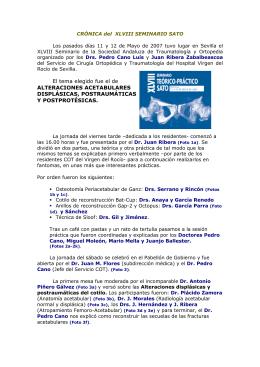Leer más - Sociedad Andaluza de Traumatología y Ortopedia