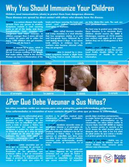 rubella chickenpox measles mumps la rubéola la varicela el